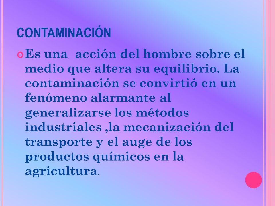 DETERIORO AMBIENTAL Y LA CONTAMINACIÓN