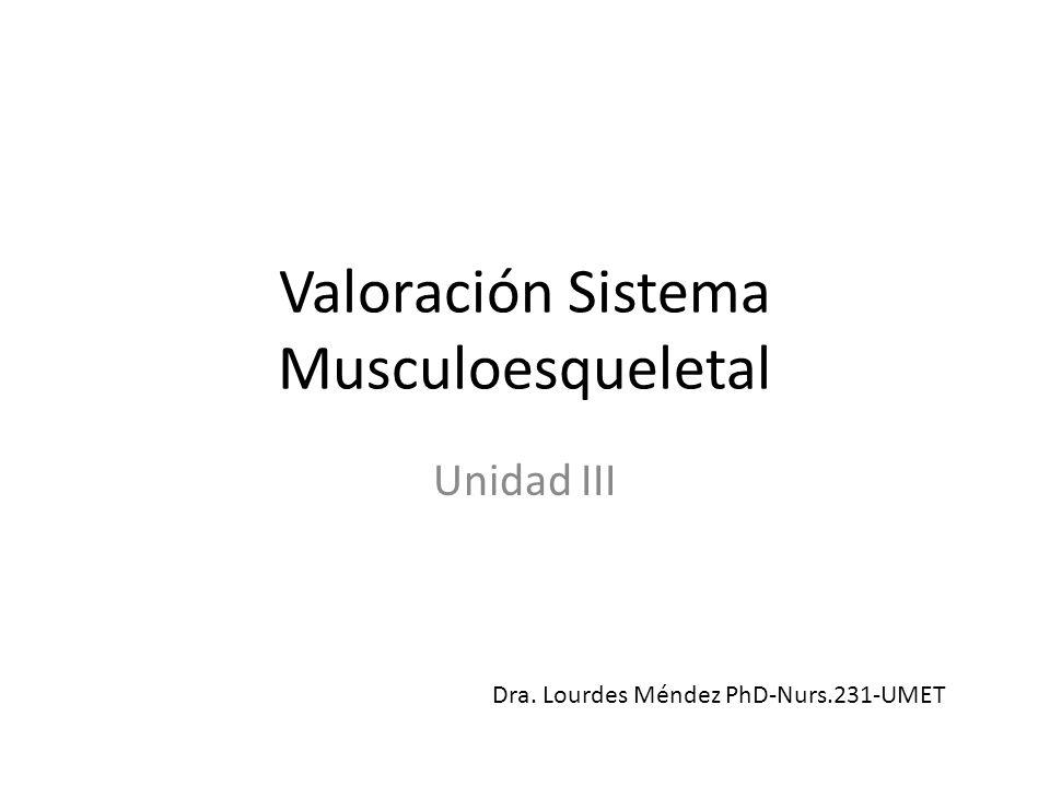 Objetivos AL finalizar la conferencia titulada Valoración del Sistema Musculoesqueletal los estudiantes de Nurs.