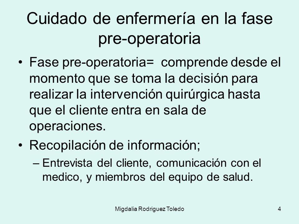 Migdalia Rodriguez Toledo5 Presentación del cliente al equipo y estimular participación activa del cliente en su cuidado.