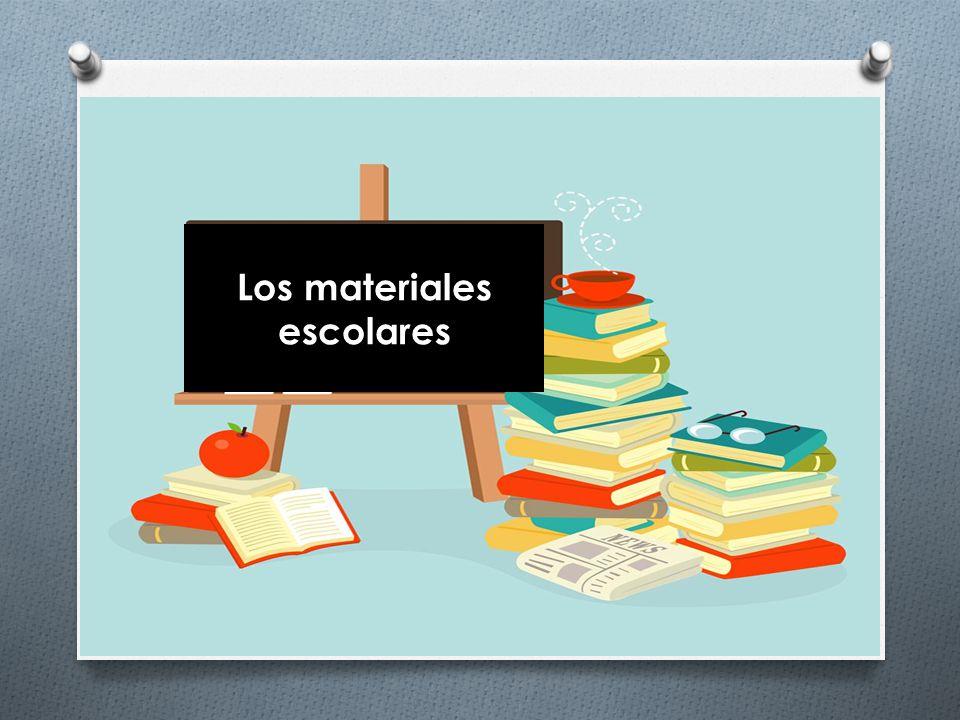 Los materiales escolares