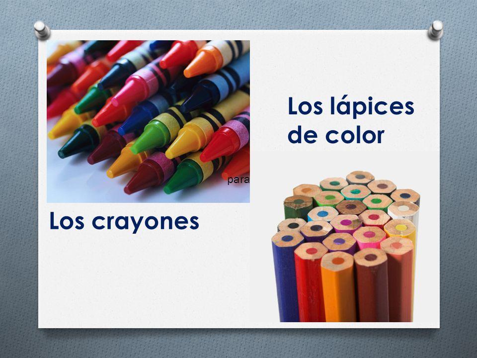 Los crayones Los lápices de color para