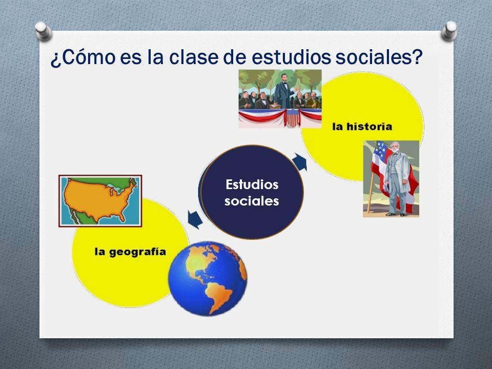 Estudios sociales ¿Cómo es la clase de estudios sociales?