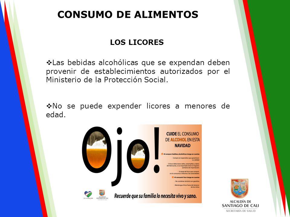  Las bebidas alcohólicas que se expendan deben provenir de establecimientos autorizados por el Ministerio de la Protección Social.  No se puede expe