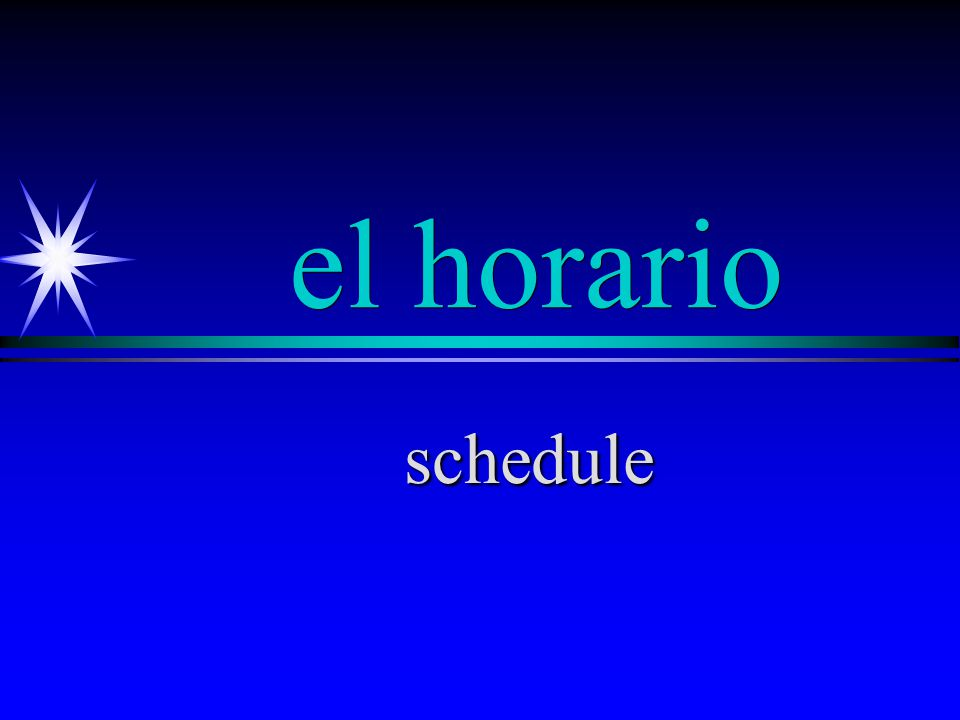 en la … hora in the … hour (class period)