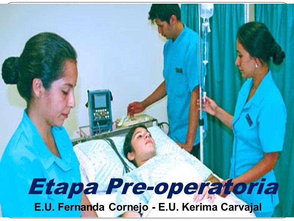 DEFINICIÓN: Es la preparación que se realiza a un paciente que va a ser sometido a una intervención quirúrgica, y consta de distintas etapas que se superponen
