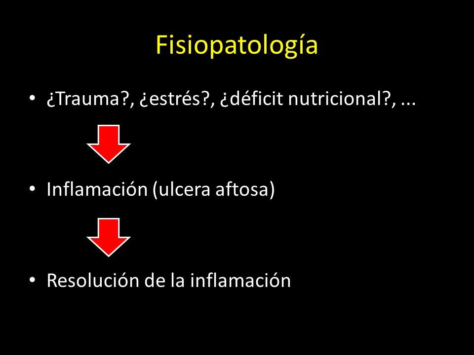 Fisiopatología ¿Trauma?, ¿estrés?, ¿déficit nutricional?,...