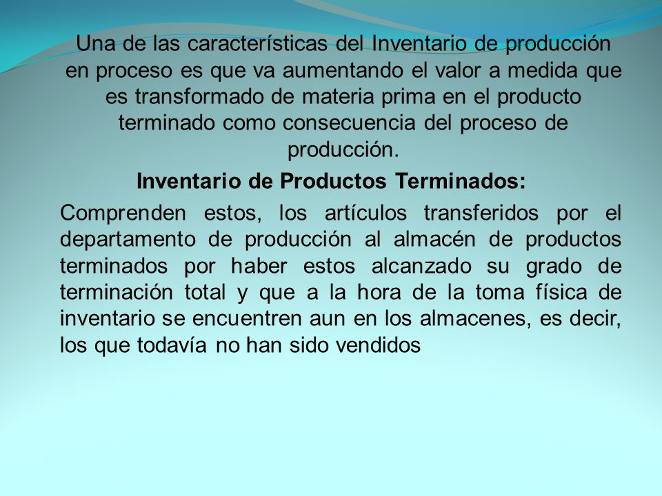 Inventario de Materiales y Suministros: En el inventario de materiales y suministros se incluye: Materias primas secundarias, sus especificaciones varían según el tipo de industria, un ejemplo para la industria cervecera es, sales para tratamiento de agua
