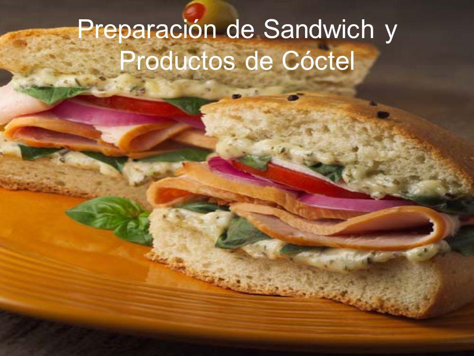 Preparación de Sandwich y Productos de Cóctel