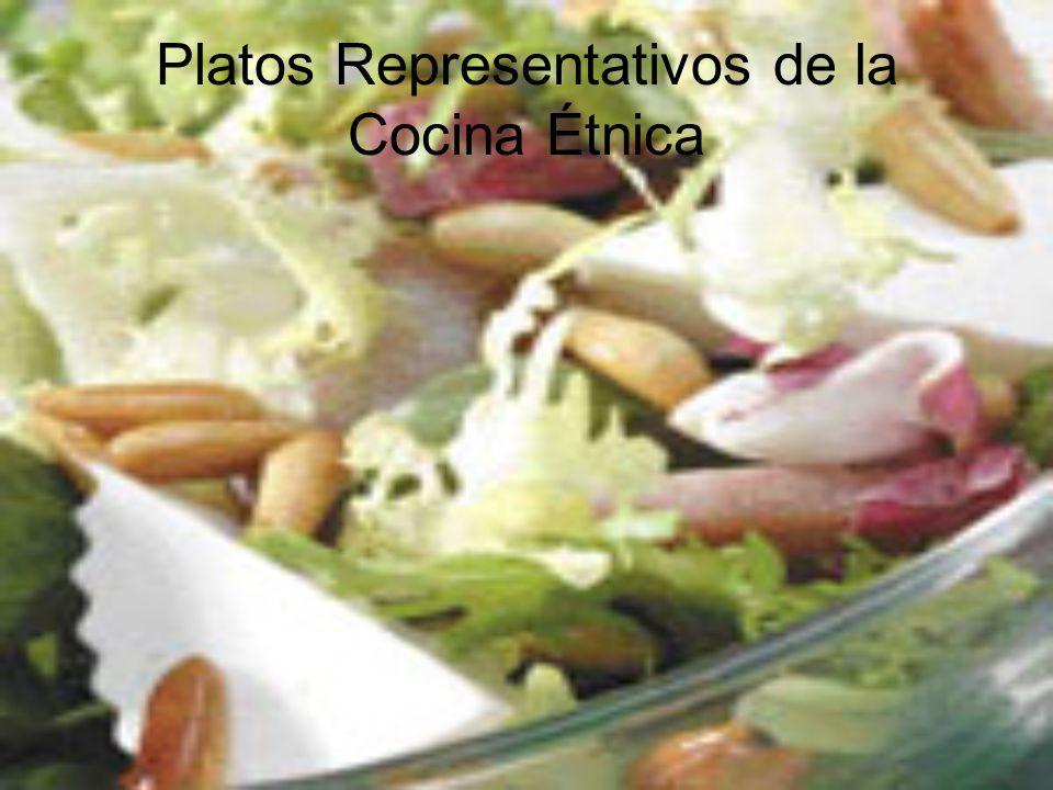 Platos Representativos de la Cocina Étnica