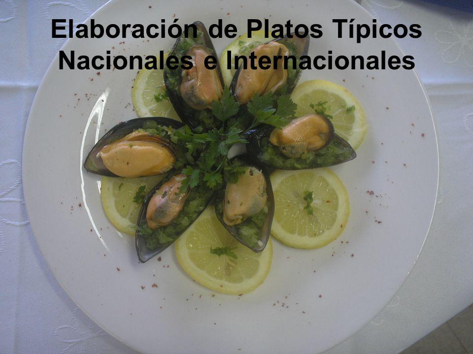 Elaboración de Platos Típicos Nacionales e Internacionales