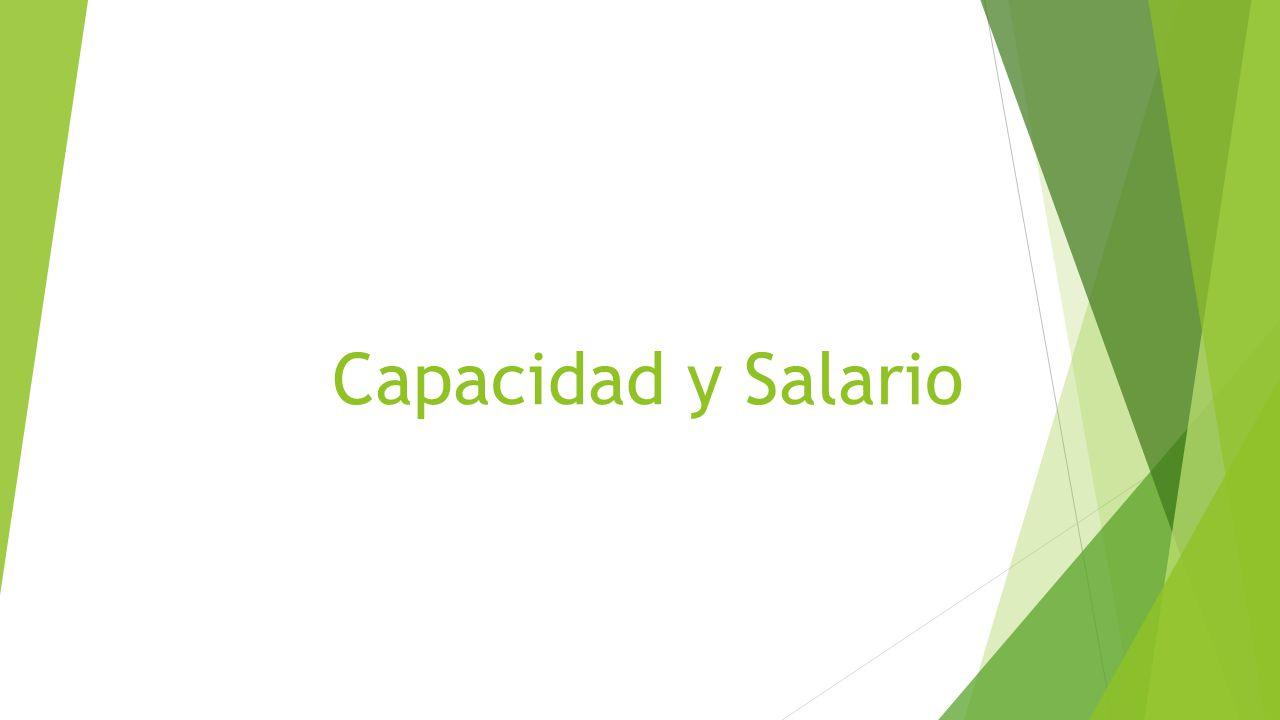 Capacidad y Salario. Capacidad: Calificaciones de un individuo ...