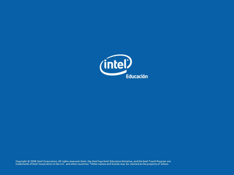 Copyright © 2008 Intel Corporation. All rights reserved.
