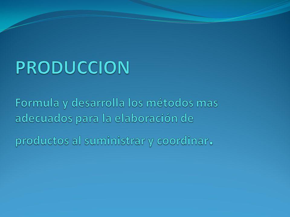 TIENE COMO FUNCIONES 1.- Ingeniería del producto: Diseño del producto.