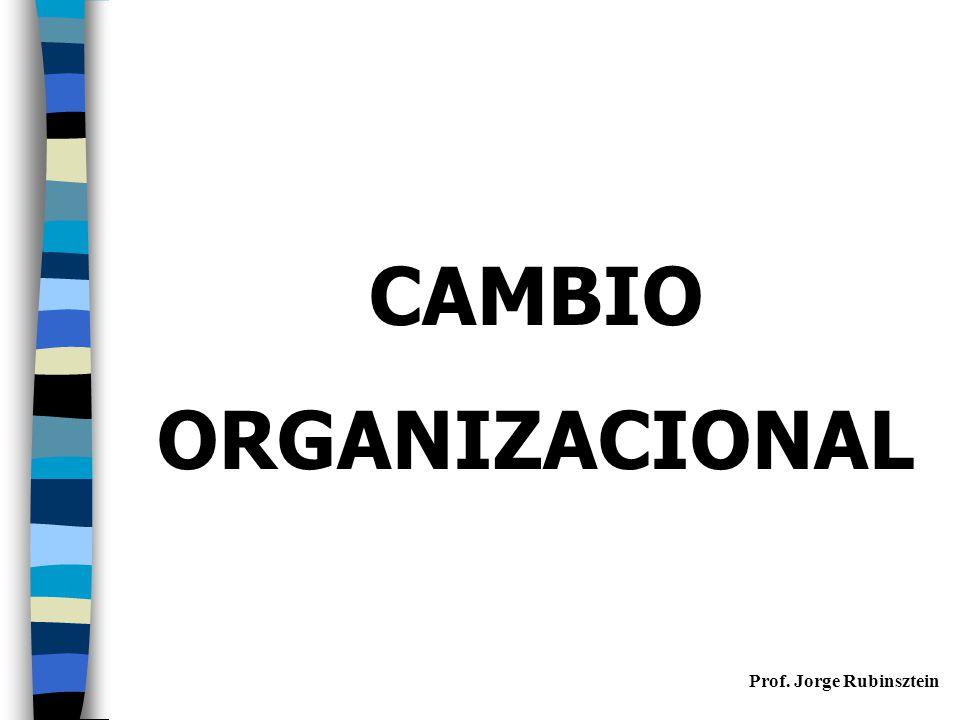 CAMBIO ORGANIZACIONAL Prof. Jorge Rubinsztein