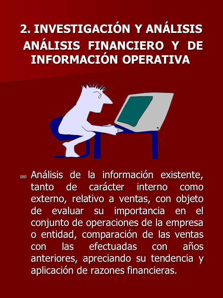 2. INVESTIGACIÓN Y ANÁLISIS ANÁLISIS FINANCIERO Y DE INFORMACIÓN OPERATIVA ANÁLISIS FINANCIERO Y DE INFORMACIÓN OPERATIVA ; Análisis de la información