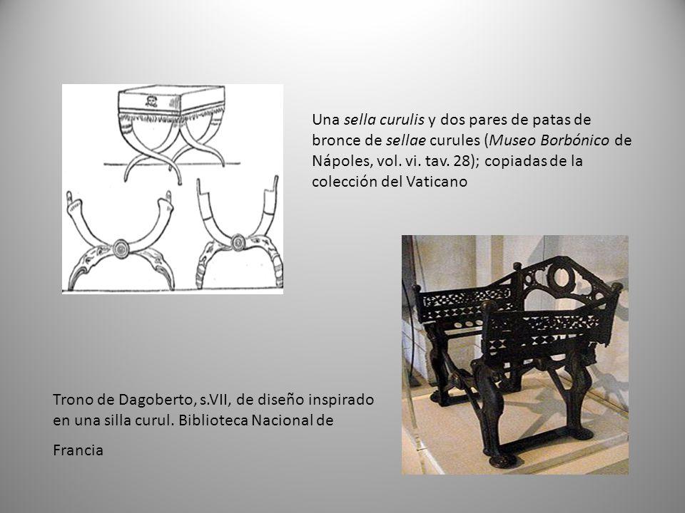 Trono de Dagoberto, s.VII, de diseño inspirado en una silla curul.