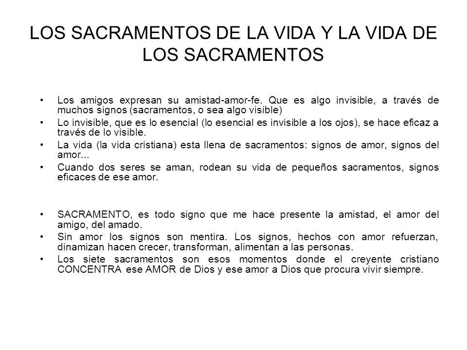 los sacramentos dinamizan la vida cristiana: