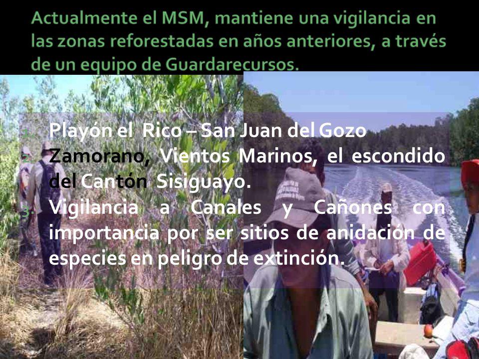 1. Playón el Rico – San Juan del Gozo 2.
