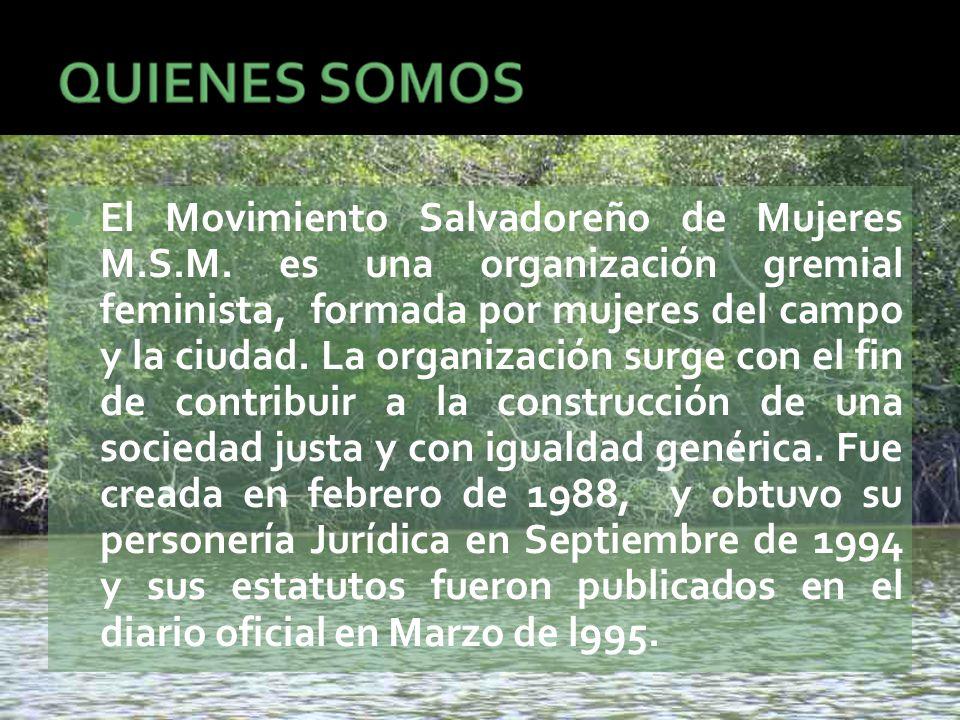 El Movimiento Salvadoreño de Mujeres M.S.M.