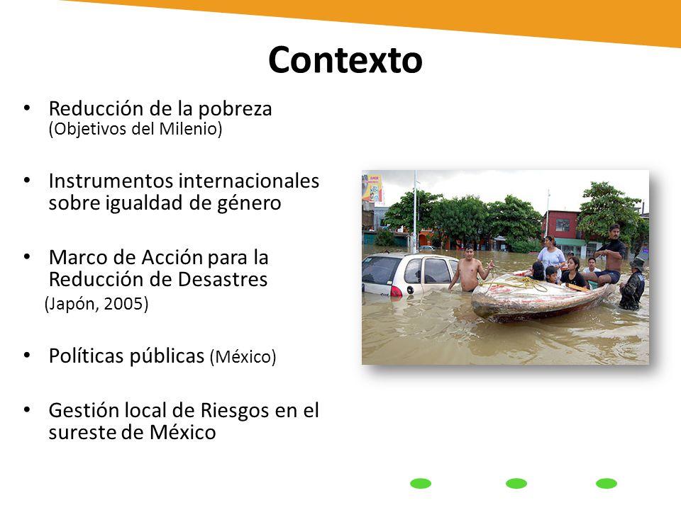 Contexto Reducción de la pobreza (Objetivos del Milenio ...