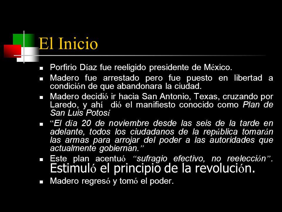 El Inicio Porfirio D í az fue reeligido presidente de M é xico.