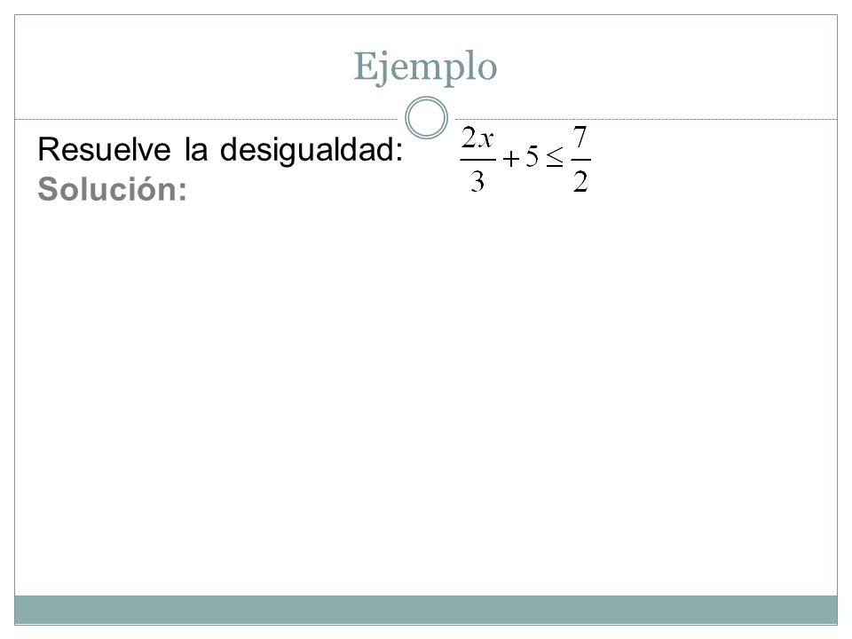 Práctica: Resuelva las siguientes desigualdades lineales.