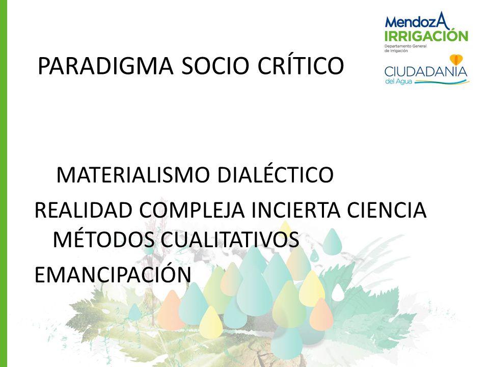 ENFOQUE SOCIO CRÍTICO REALIDAD COMPLEJA, CAMBIANTE DOCENTE MEDIADOR Y TRASFORMADOR SUJETO ACTIVO APRENDIZAJE POR RECONSTRUCCIÓN.