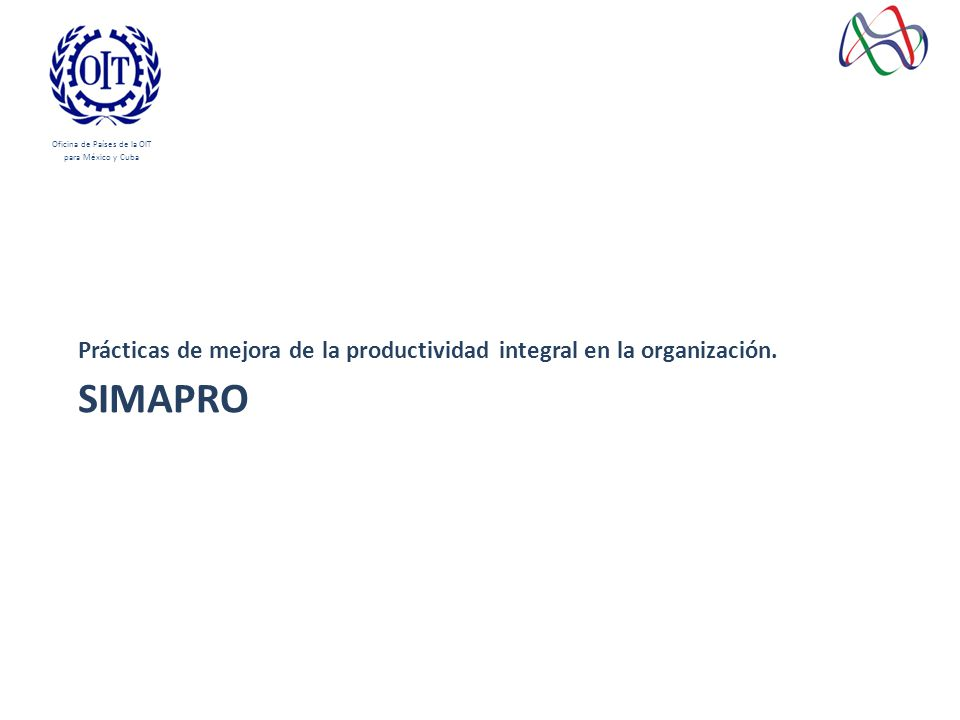 SIMAPRO Prácticas de mejora de la productividad integral en la organización.