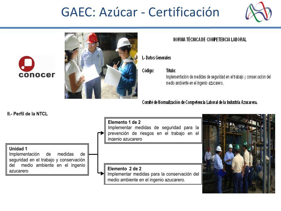 GAEC: Azúcar - Certificación