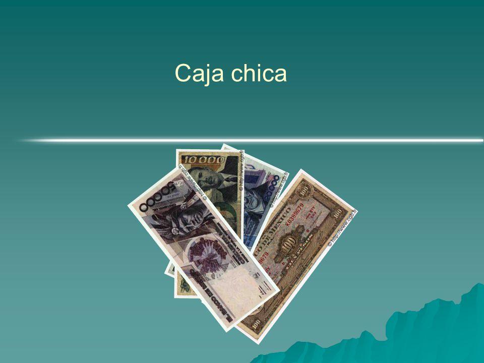 Sistema de Fondo de caja chica y registros contables  A) Creacion de fondo de caja chica.