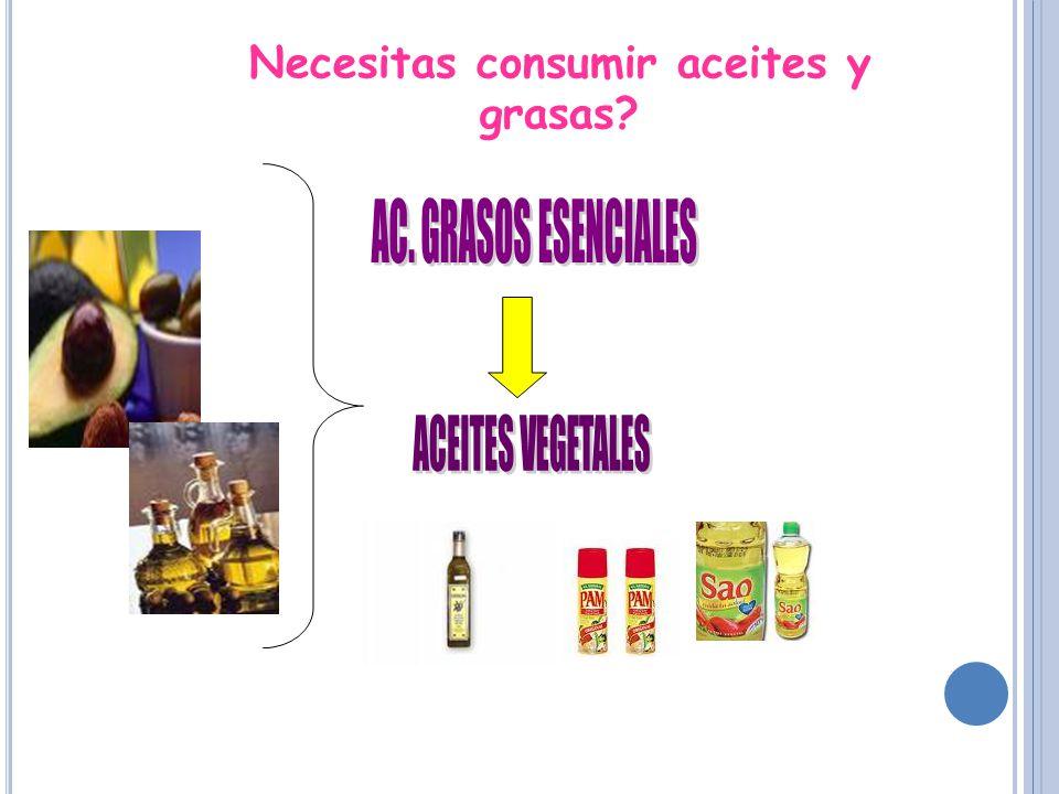 Necesitas consumir aceites y grasas?