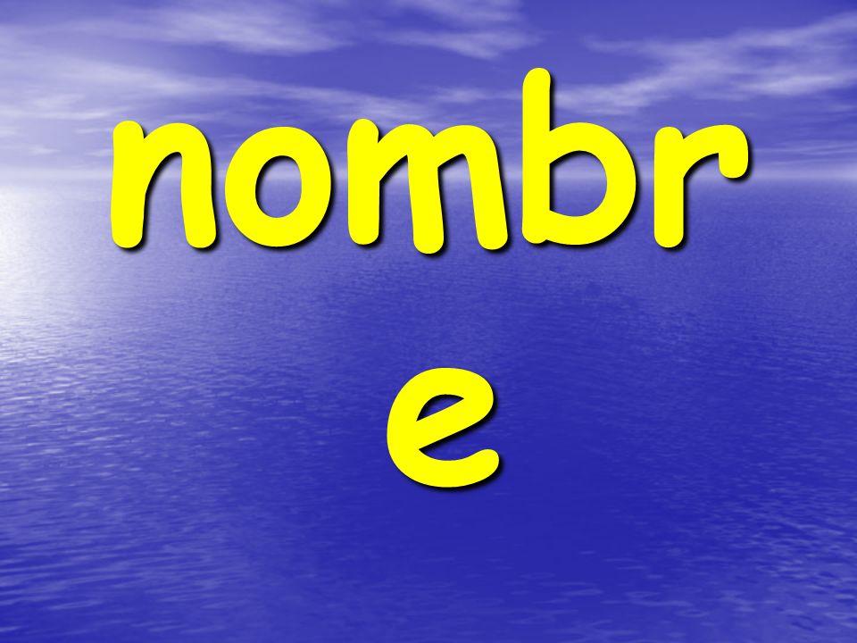 nombr e