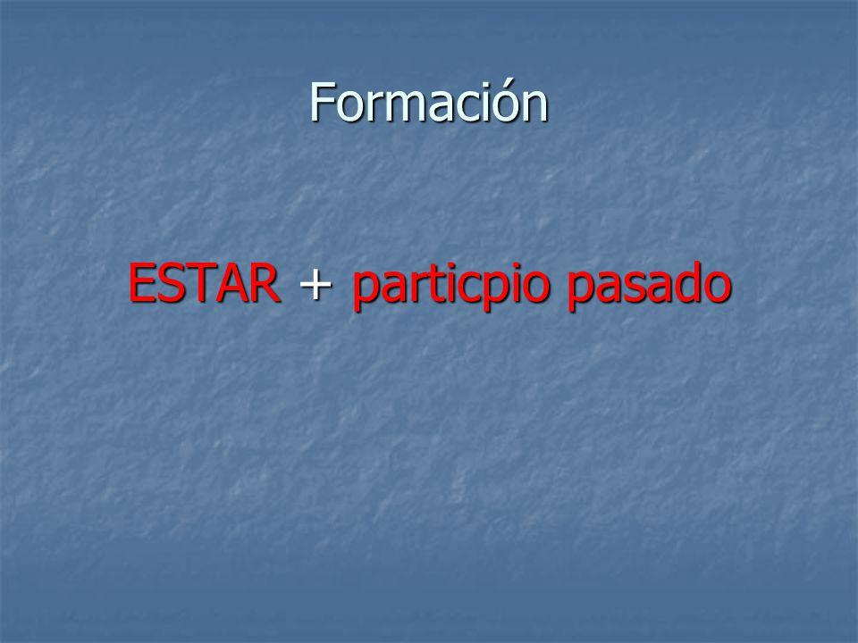 Formación ESTAR + particpio pasado