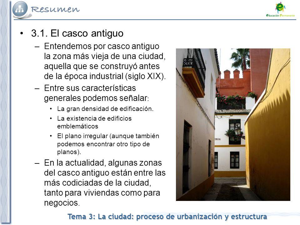 Tema 3: La ciudad: proceso de urbanización y estructura 3.1.