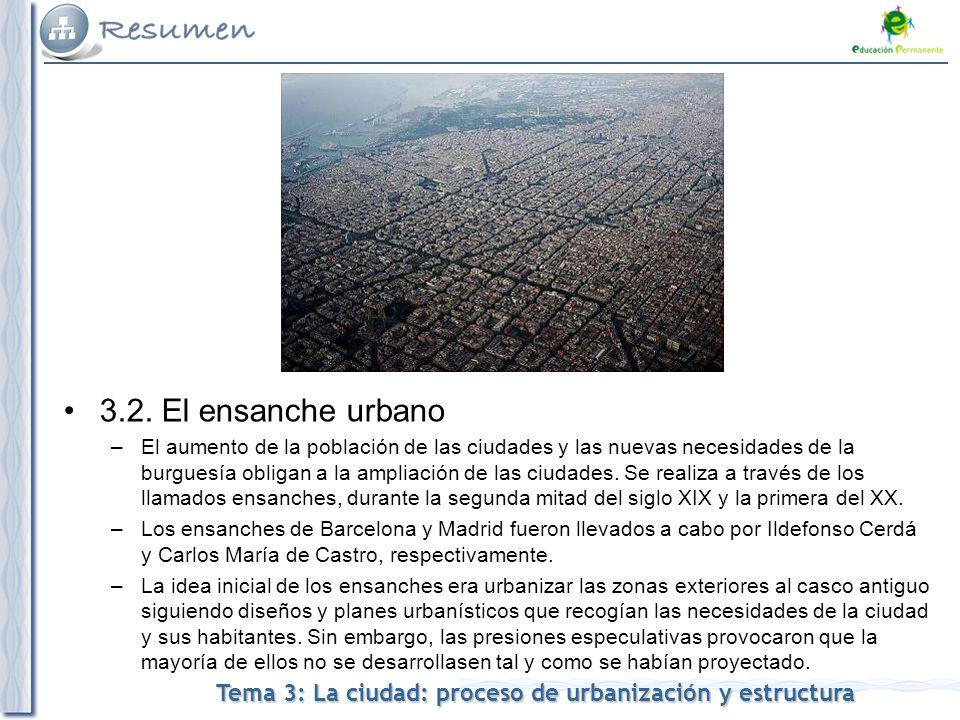 Tema 3: La ciudad: proceso de urbanización y estructura 3.2.