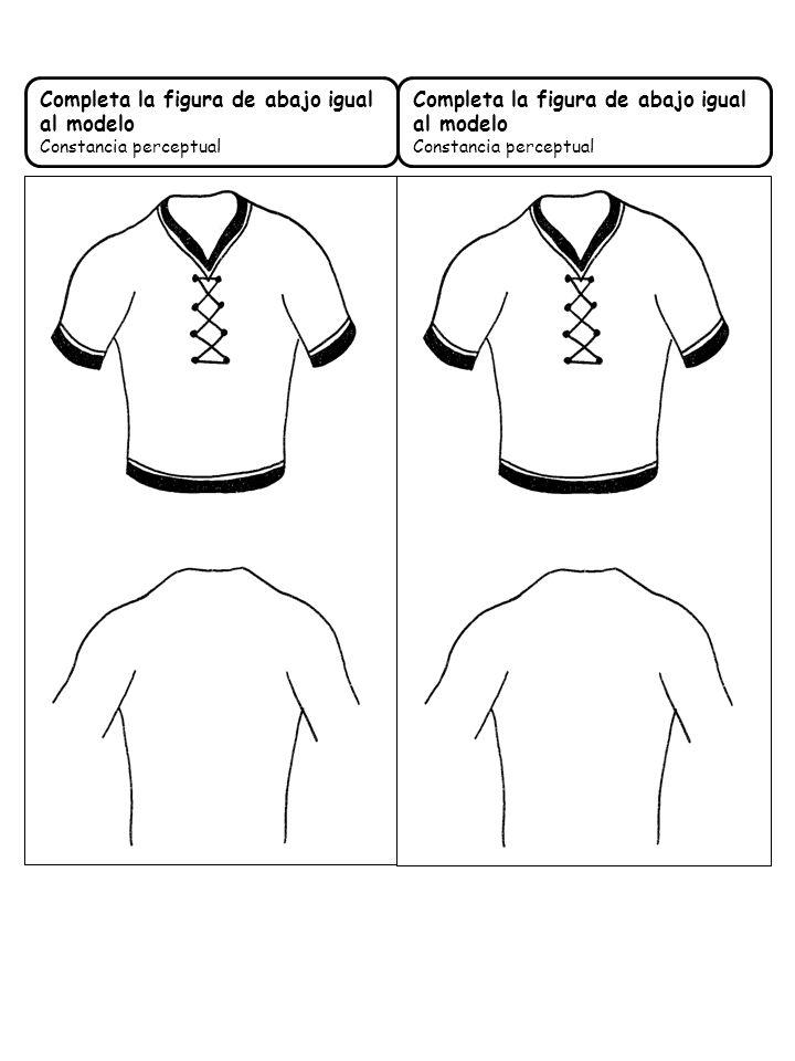 Completa la figura de abajo igual al modelo Constancia perceptual Completa la figura de abajo igual al modelo Constancia perceptual