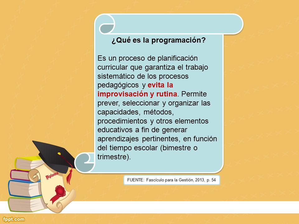 FUENTE: Fascículo para la Gestión, 2013, p.