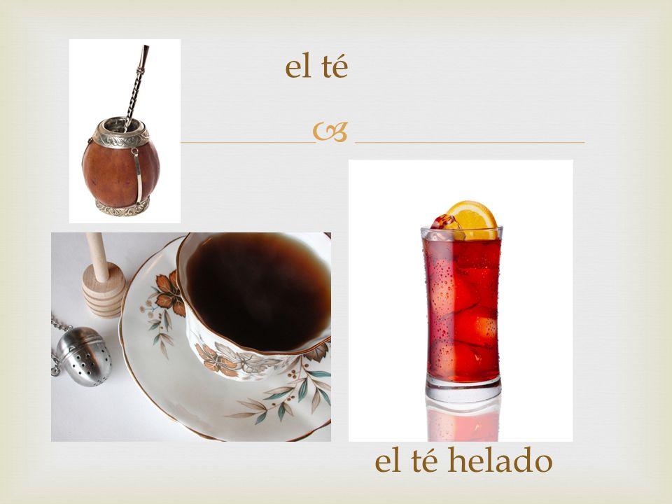 el té el té helado