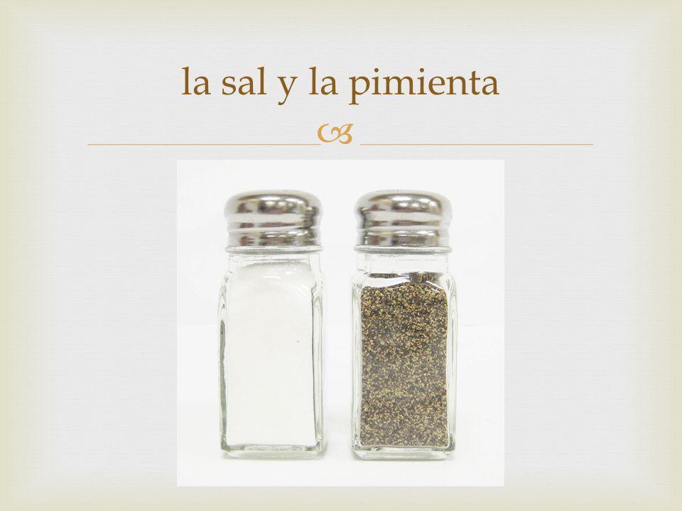  la sal y la pimienta