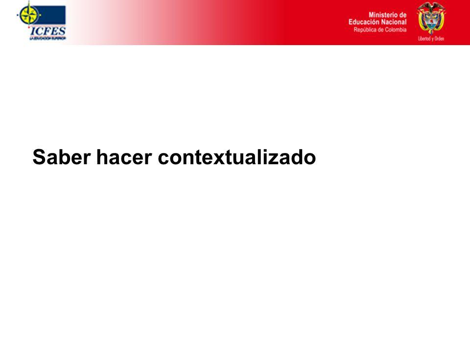 Una propuesta de Competencia … Actuación pertinente que emerge en la tarea, en contexto situado, graduada en niveles: 1.