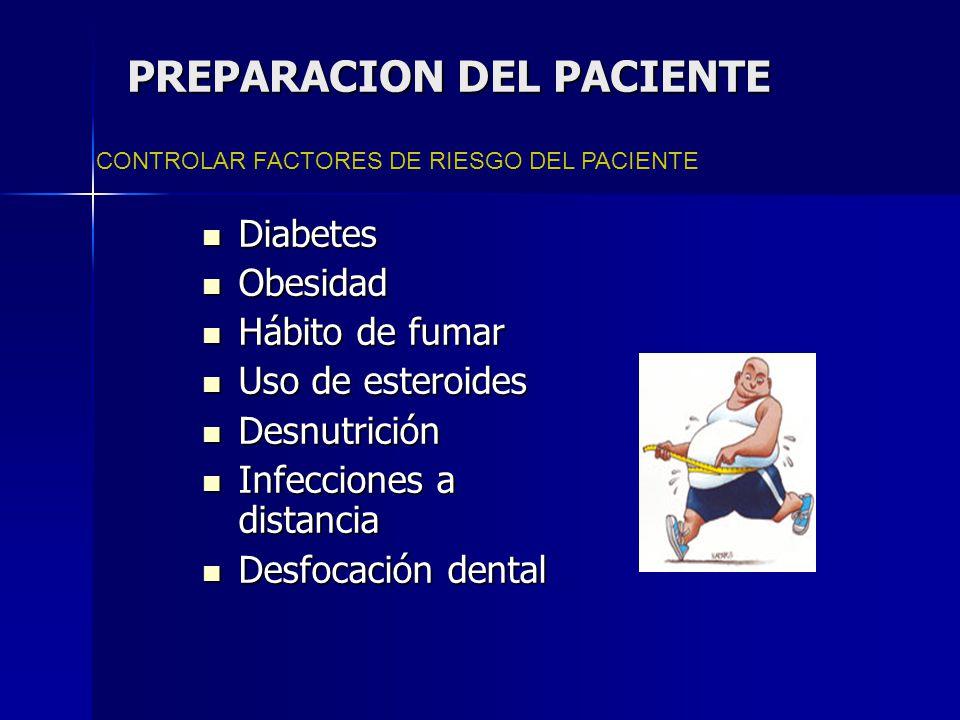 PREPARACION DEL PACIENTE Controlar factores de riesgo Es importante para prevenir IHO: 1.
