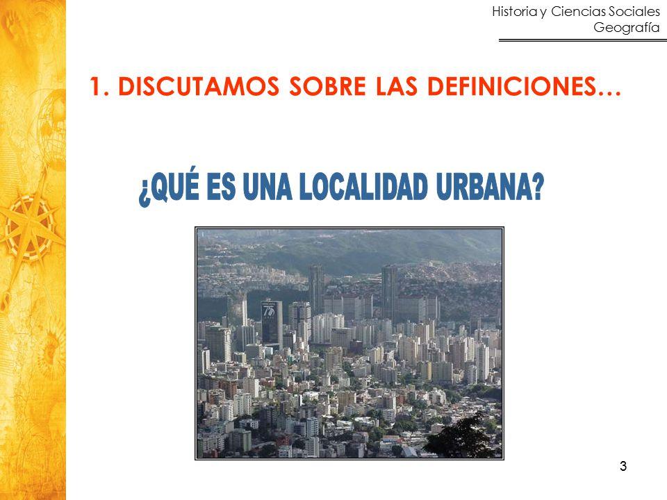Historia y Ciencias Sociales Geografía 3 1. DISCUTAMOS SOBRE LAS DEFINICIONES…