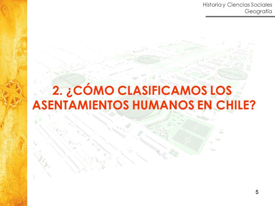 Historia y Ciencias Sociales Geografía 6 Las localidades urbanas, según el INE  Son localidades urbanas todas aquellas que tienen más de 2.000 habitantes.