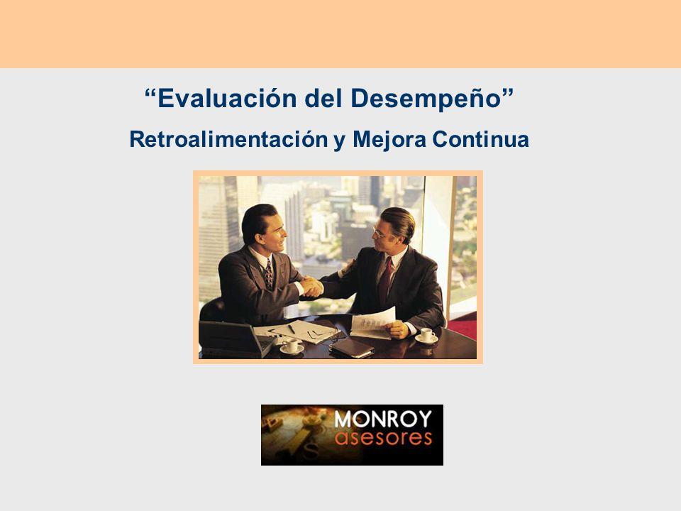 Evaluación del Desempeño Retroalimentación y Mejora Continua