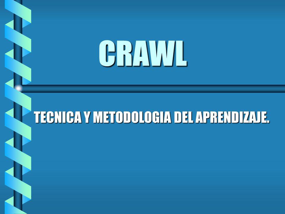 CRAWL TECNICA Y METODOLOGIA DEL APRENDIZAJE.