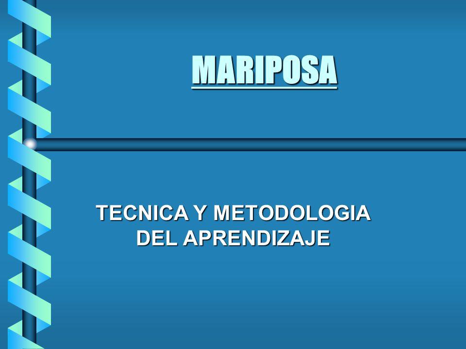 MARIPOSA TECNICA Y METODOLOGIA DEL APRENDIZAJE