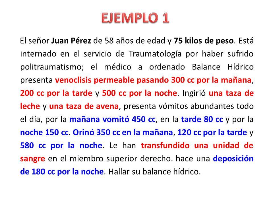 PI = Peso x 12 (en 24 horas) AM = Peso x 5 cc (en 24 horas) (PI = peso/2 x n° de horas)