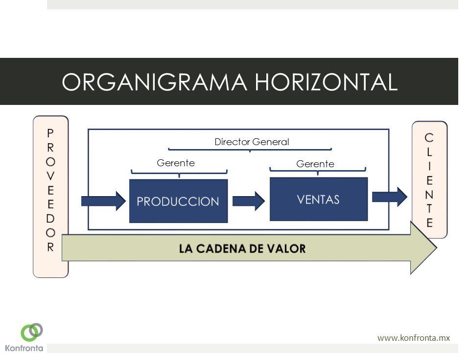 www.konfronta.mx ORGANIGRAMA HORIZONTAL Director General Gerente