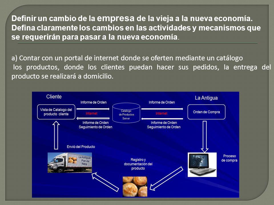 Definir un cambio de la empresa de la vieja a la nueva economía.