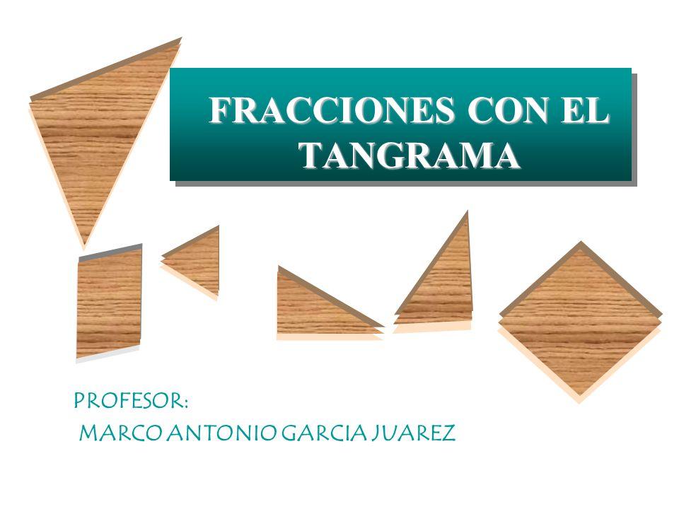 ACTIVIDAD 1 ACTIVIDAD 1 FRACCIONES DEL CUADRADO UNIDAD Si el cuadrado es 1, ¿qué fracción de la unidad representa cada pieza del Tangrama?